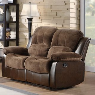 TRIBECCA HOME Coleford Coffee Double Reclining Loveseat | Overstock™ Shopping - Great Deals on Tribecca Home Sofas & Loveseats