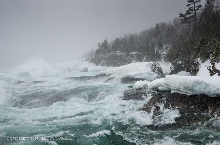 Big waves on Lake Superior as Winter Storm Yogi moved in to our area of the Upper Peninsula. Taken today from the Black Rocks at Presque Isle Park, Marquette, MI. 4/19/13