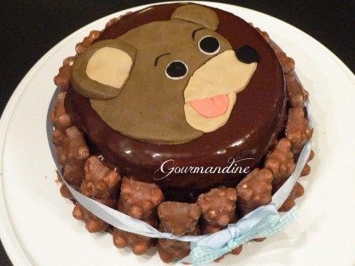 Gâteau petit ours brun