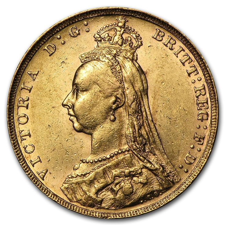 1887-1892 GREAT BRITAIN GOLD SOVEREIGN VICTORIA JUBILEE