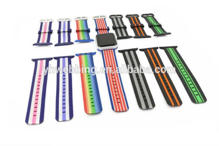 YH69 Woven Nylon strap For apple watch band 42 mm/38 Sport wrist braclet Fabric-feel metal bucket belt for iwatch 2/1