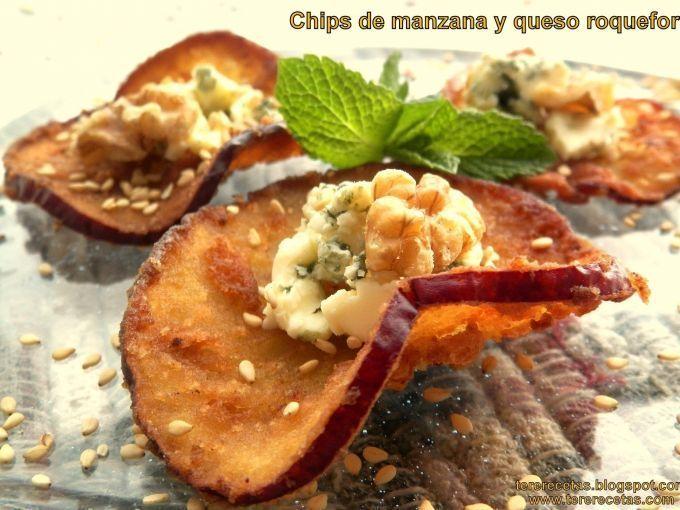 Chips de manzana y queso roquefort, foto 2