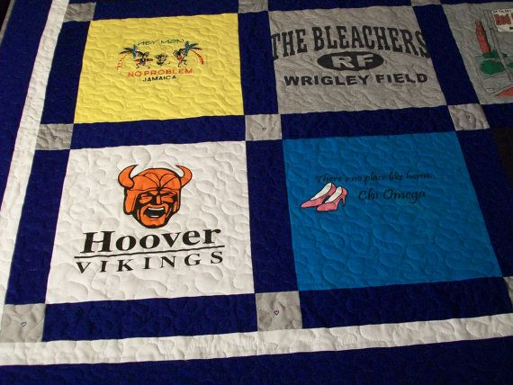 Tshirt Quilt Pattern PDF - E-Book - How to Make a T-Shirt Quilt - Full Size E books, Quilt and ...