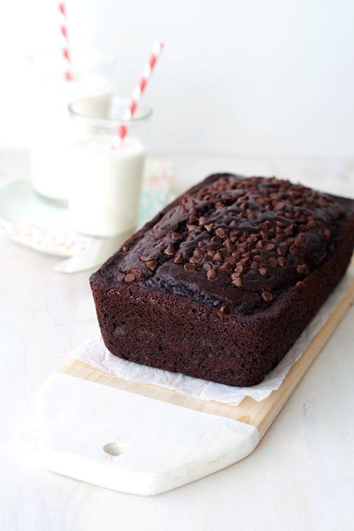 triple-chocolate buttermilk loaf