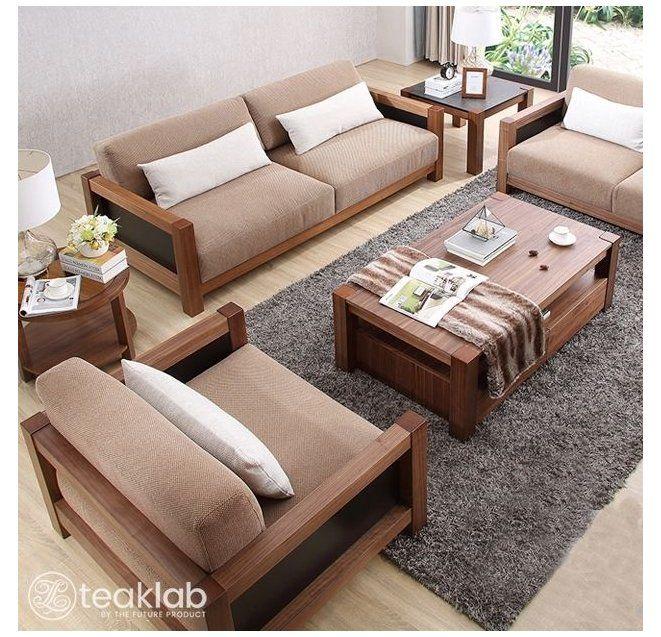 Buy Indian Minimalist Wooden Sofa Set Online Teaklab Bed Furniture Design India Bedfurniture Wooden Sofa Designs Wooden Sofa Set Living Room Sofa Design