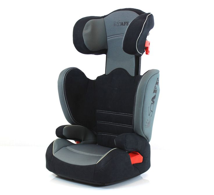 i-Safe Carseat Kid JUNIOR ISOfix Group 2-3 GRAY 15-36kg Super Side PROTECTION SY