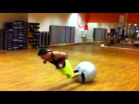 Stefan on Redcord/Core ball - YouTube