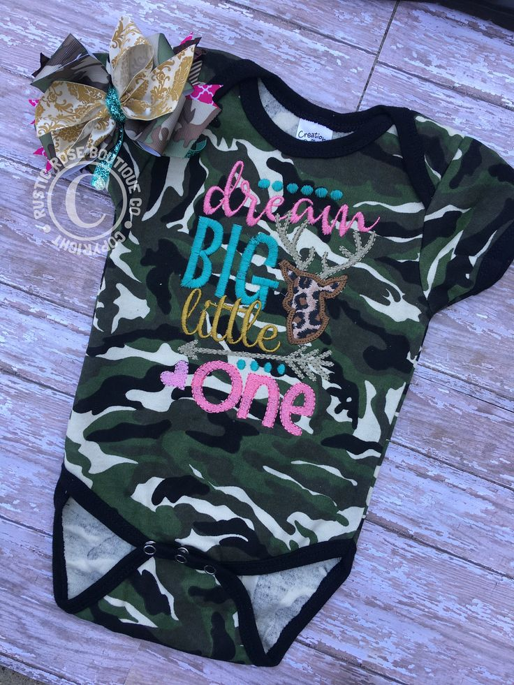 Baby clothes, Baby girl outfits, Clothing, Clothes, Boutique outfits, Infant sets, Dream big, Buck, Doe, Daddys girl, Princess, Hospital set by RusticRoseBoutiqueCo on Etsy   Baby shower gift, baby, baby girl, baby clothes, baby girl clothes, camo, hunting, buck, boutique, boutique outfits, boutique baby clothes