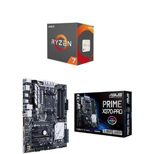 AMD YD180XBCAEWOF Ryzen 7 1800X Processor & ASUS PRIME X370-PRO Motherboard Bundle