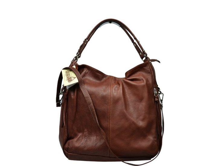 Italská kožená kabelka Gemma Marrone