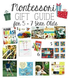 Montessori Christmas Gift Guide for 5-7 Year Olds