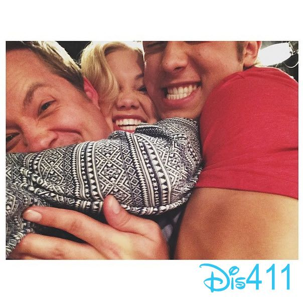 Olivia Holt Gets A Big Squeeze From Leo Howard And Jason Earles April 14, 2014