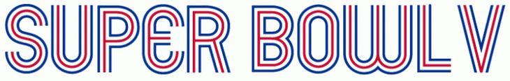 Super Bowl Primary Logo (1970) - Baltimore 16, Dallas 13