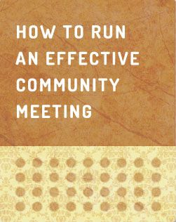 How to Run an Effective Community Meeting | Cultivating Food Coops