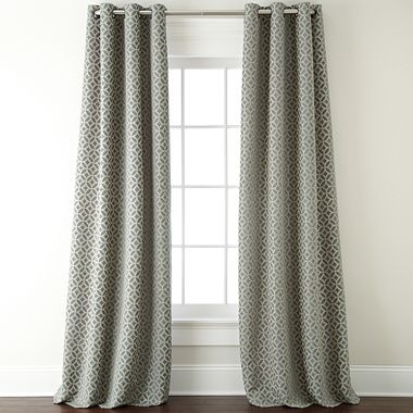 My new window treatments for the living room from jcpenney for Jcpenney living room curtains