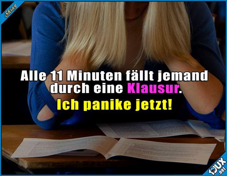 Zeit für Panik! x.x #Humor #Schule #Studium #Sprüche #Studentenleben #Memes #Jodel #lustigeSprüche #Klausuren