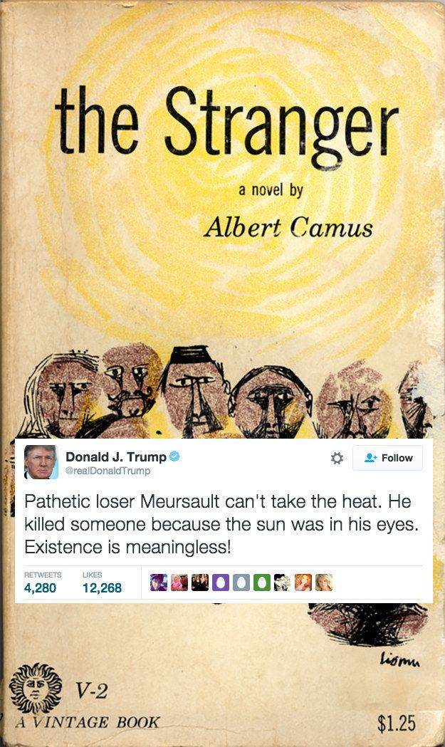 Donald Trump's tweets reveal an obvious truth. He's missed his calling as a writer of the world's most singularly intense CliffsNotes. SAD!