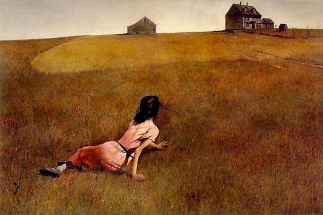 "my favorite artwork. ""Christina's World"" Andrew Wyeth. 1948"