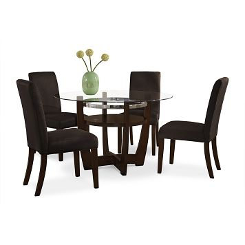 Daly Chocolate Dining Room 5 Pc Dinette Decent Price For Versatile Modern