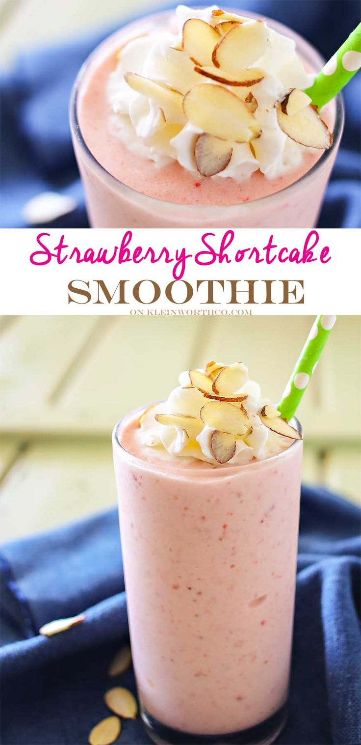 Strawberry Shortcake Smoothie is a delicious fruit smoothie recipe that is packed full of strawberry flavor. It's great for breakfast or as an afternoon snack for the whole family.