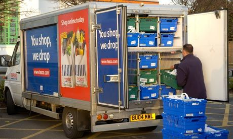 Tesco has announced it will focus more on online delivery as more people turn their back on shopping in stores. Photograph: David Pearson/Al...