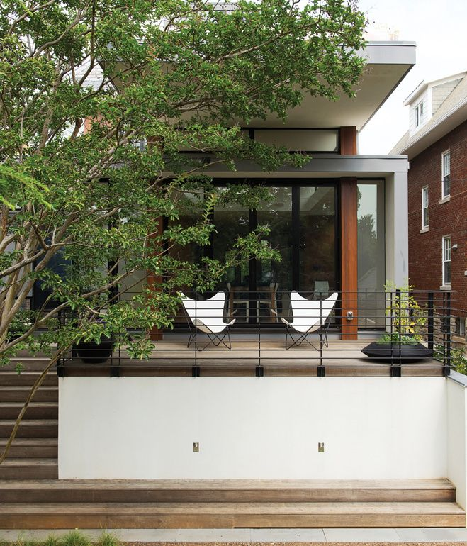 """One family's effort to """"smuggle a modern house into a historic district"""" in Washington, DC, results in a brightly transformed space made ..."""