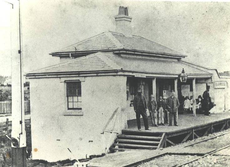 The original Burwood Station
