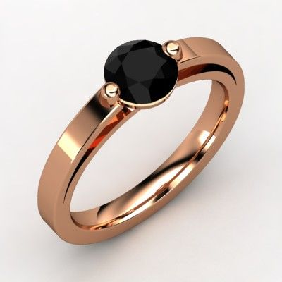 Onyx Rose Gold ring from gemvara