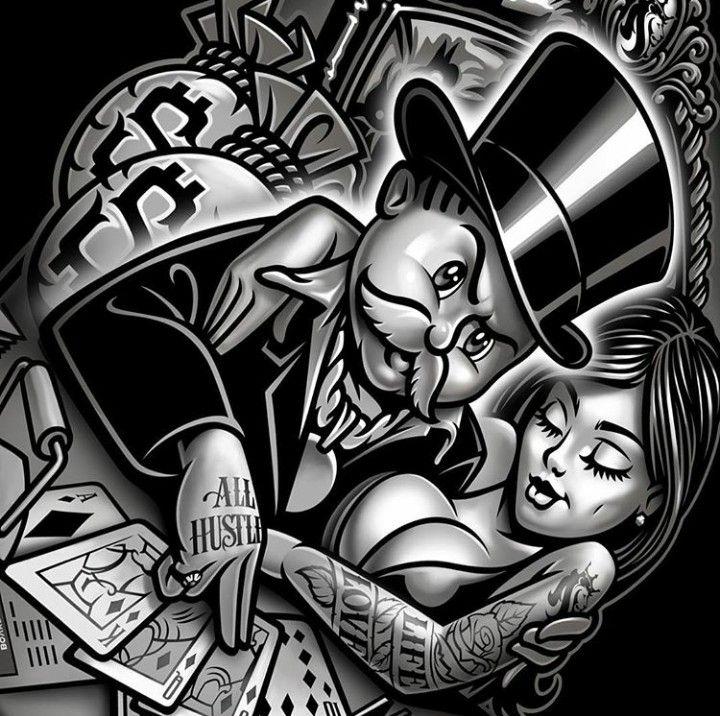 All Hustle By Og Abel Tattoos For Guys Neck Tattoo For Guys Og Abel Art