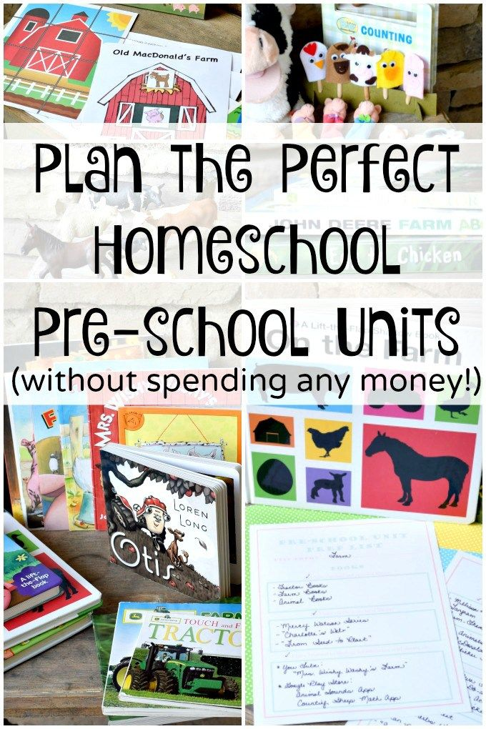 Plan the Perfect Homeschool Preschool Units without spending any money