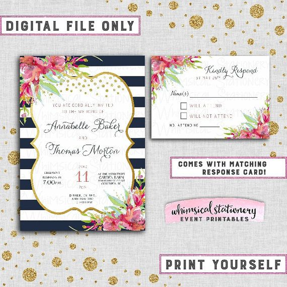 6a5c59912c4a20c85244056398425a53 navy stripes response cards 99 best wedding invitations images on pinterest,Invitation And Response Card Set