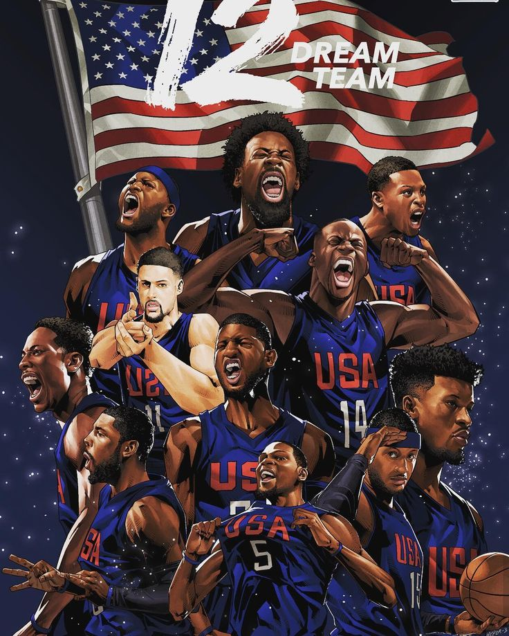 Ain't no dream team but love this picture. Gold medal winners that's all that matters