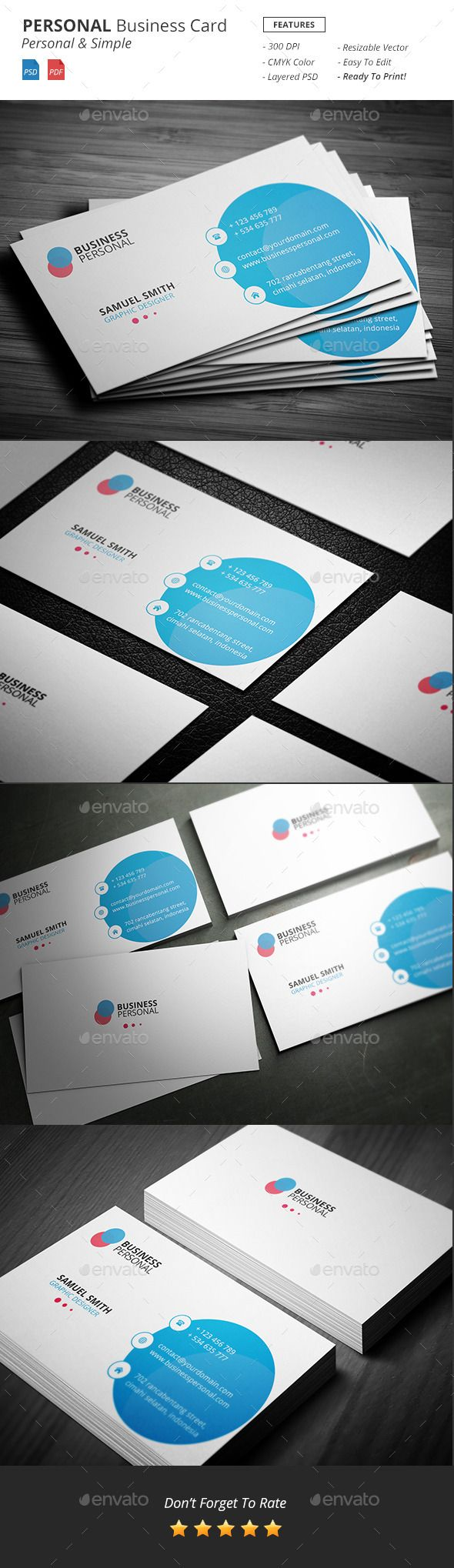 Personal Business Card Template #design Download: http://graphicriver.net/item/personal-business-card/12423830?ref=ksioks