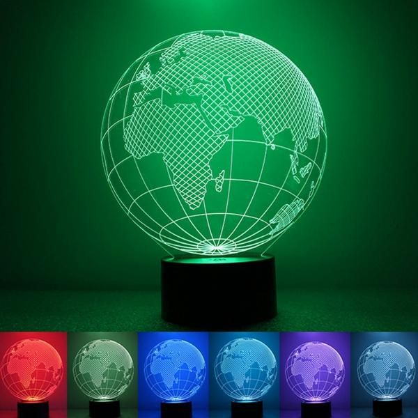 3d Earth Globe Night Light 7 Color Changing Usb Led Table Lamp Home Decor Night Light Led Table Lamp Led Night Light