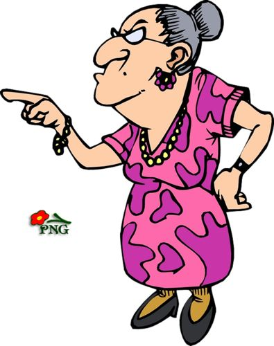 Funny old women vector Graphics