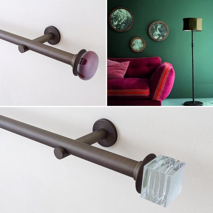 NEW! Mini glass finials for our 19mm brushed bronze pole sets, perfect compliment to #greeninteriors, beautiful accessories by @ochreochre #designerspick #walcotpoles #shopnow