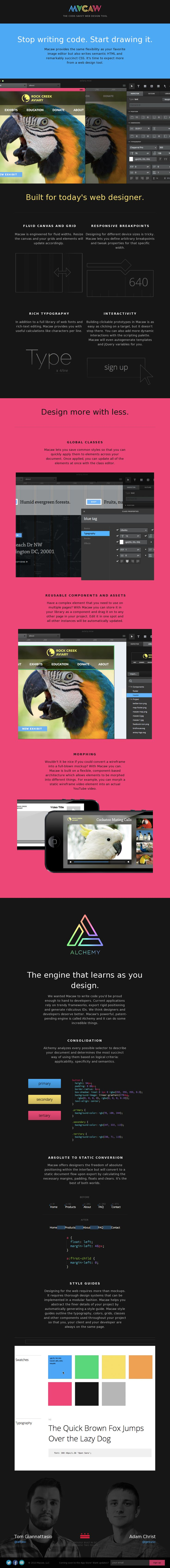 Nice web app with a colorful, flat web design.