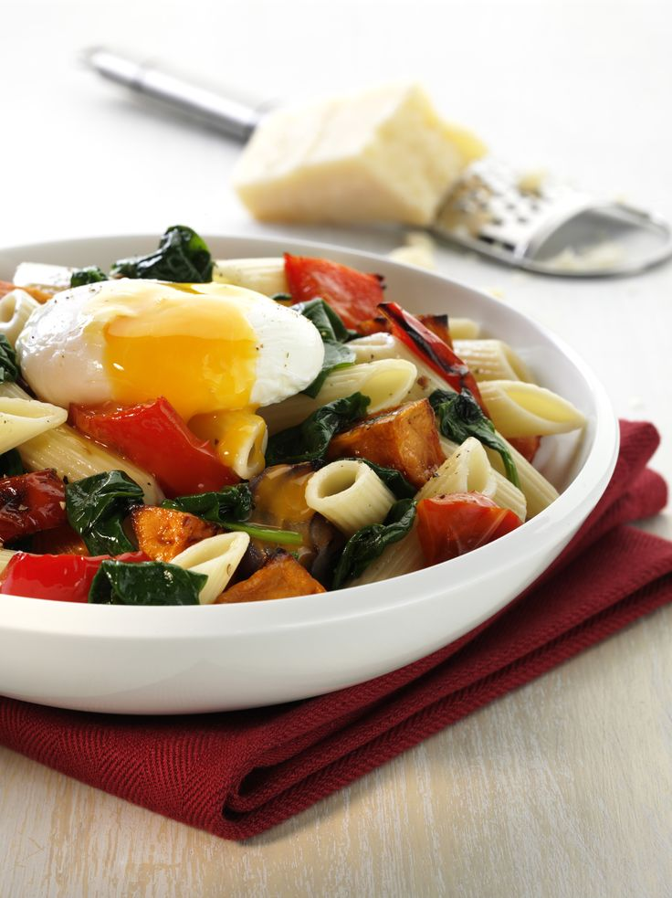 recipes roasted vegetable pasta roasted vegetables veggies poached egg ...