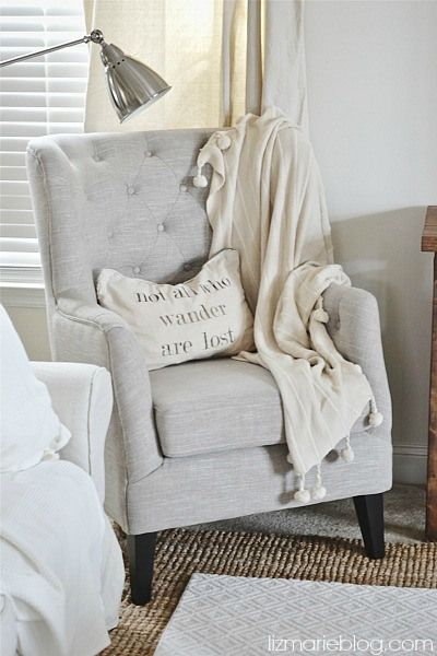A New Chair & Spray Painted Legs - - 25+ Best Ideas About High Back Chairs On Pinterest Black