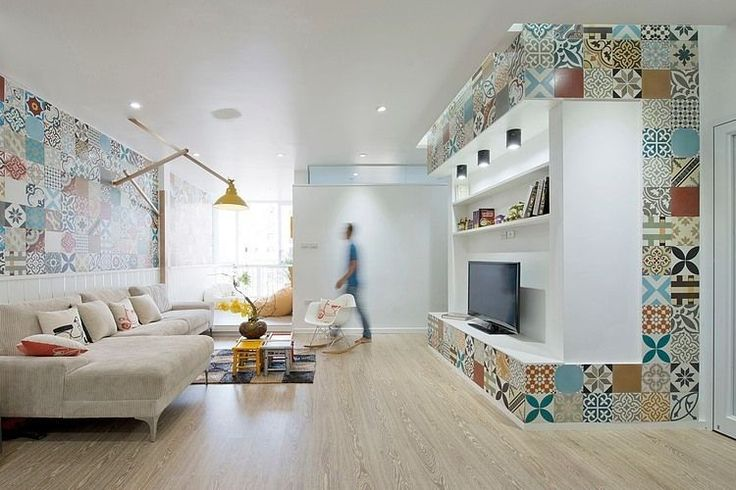 Great use of printed tiles. HT Apartment by Landmak Architecture | Home Adore