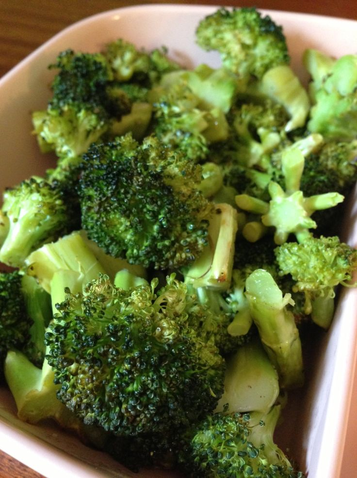 Roasted Broccoli-high in cancer-fighting phytochemicals and anti-estrogenic indoles- high in soluble fiber- low calorie