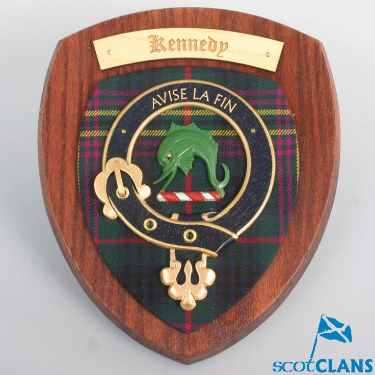 kennedy clan crest plaque clan kennedy products pinterest products. Black Bedroom Furniture Sets. Home Design Ideas