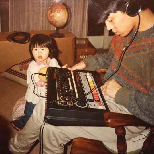 Ryuichi Sakamoto, Miu Sakamoto and a TR 808