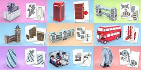 London Paper Model Resource Pack - london, paper, model, craft