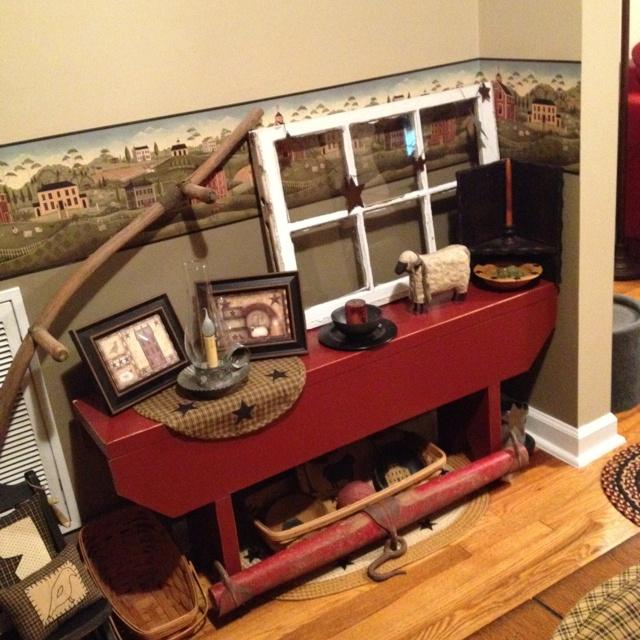 Primitive Bench Decor For The Home Pinterest