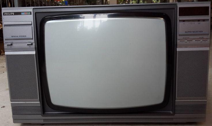 Vintage Philips 21 U0026quot  Colour Tv