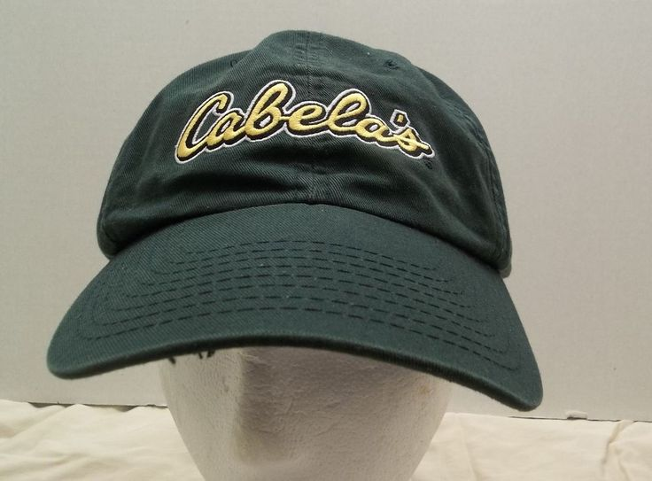 Cabelas Green Hat Worlds Foremost Outfitter Adjustable Cap #Cabelas