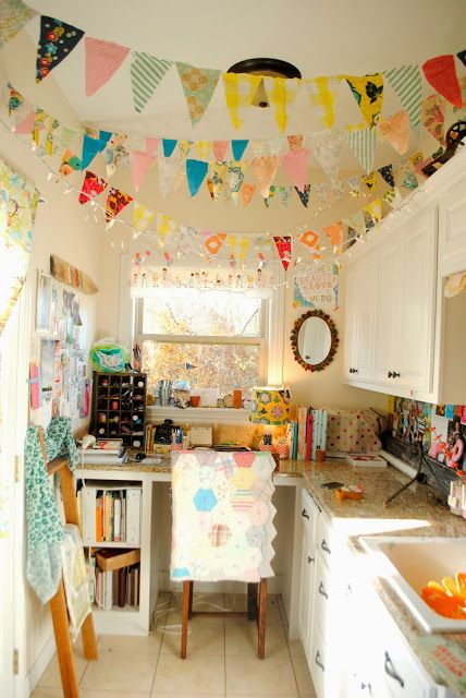 A Happy, Little Sewing Room