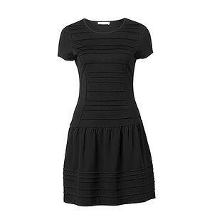 Drop Waist Pleat Dress - Black – Target Australia