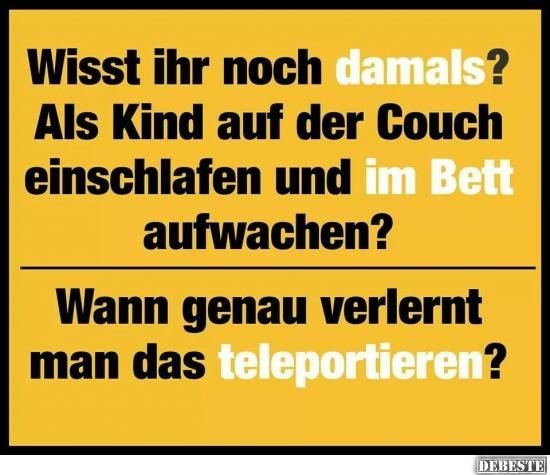 Wisst ihr noch damals? | DEBESTE.de, Lustige Bilder, Sprüche, Witze und Videos
